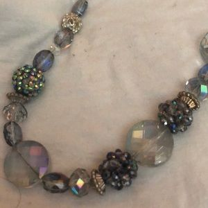 Lavender beaded fashion necklace
